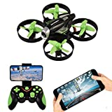 RC Quadcopter with HD Camera,APP Vocie Control Drone with Altitude Hold, RC Drone 2.4GHz 4 Channel 6 Axis Gyro,Remote Control Drone Gravity Sensor and Headless Mode
