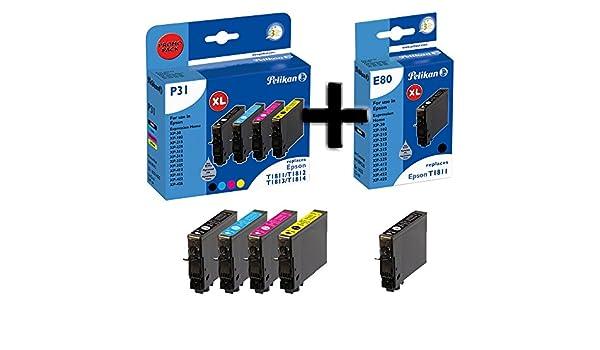 Pelikan P31 Cartuchos de impresora Promo Pack Plus 5, compatible ...