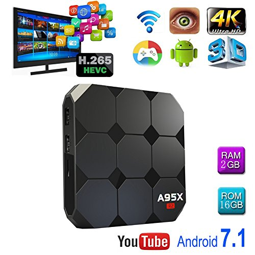 BOMIX  MXPRO KODI with addon 1/8G Android 6.0 Smart Tv Box  Quad Core with 2.4G Wi-Fi 100M Ethernet Lan 4K Hdmi 3D Ott Media Player -  EE DEPOT INC, A92XR2