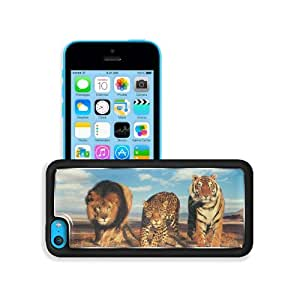 Animals Lions Tigers Leopard League Patrol Apple iPhone 5C Snap Cover Premium Aluminium Design Back Plate Case Customized Made to Order Support Ready 5 inch (126mm) x 2 3/8 inch (61mm) x 3/8 inch (10mm) MSD iPhone_5C Professional Metal Case Touch Accessor
