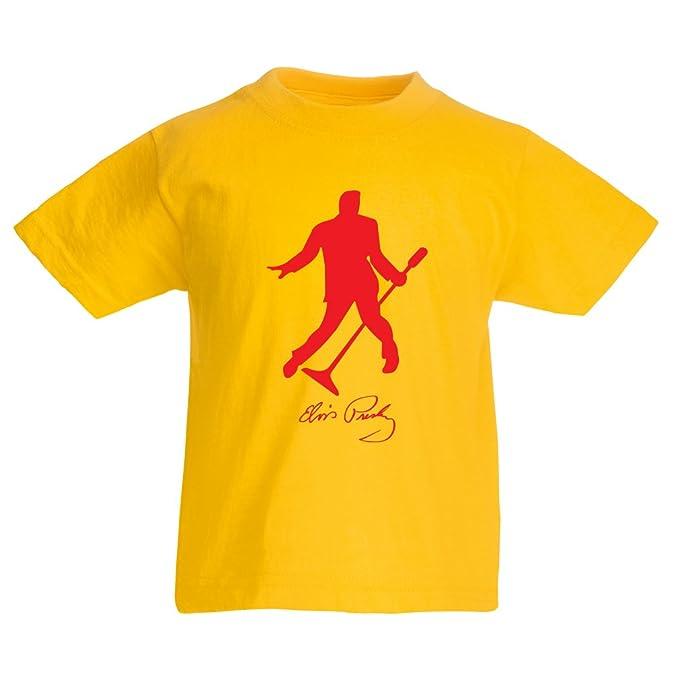 lepni.me Camiseta para Niño/Niña Te Amo Elvis - Rey del Rock and