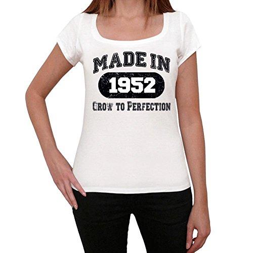 1952, camisetas mujer cumpleaños, regalo mujer, camiseta regalo blanco