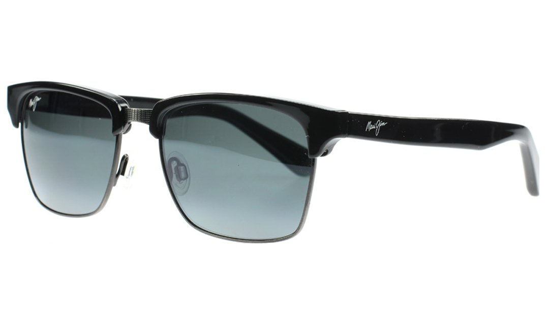 Maui Jim - Kawika - Gloss Black W/ Pewter Frame-Polarized Neutral Grey Lenses by Maui Jim