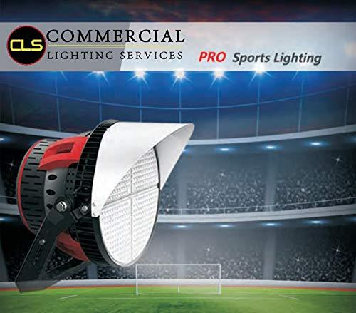 LED Parking Lot, Pole Light, Sport Lighting 500 Watt. 65,000 Lumens. Meanwell Driver, Phillips, Adjustable Beam ()