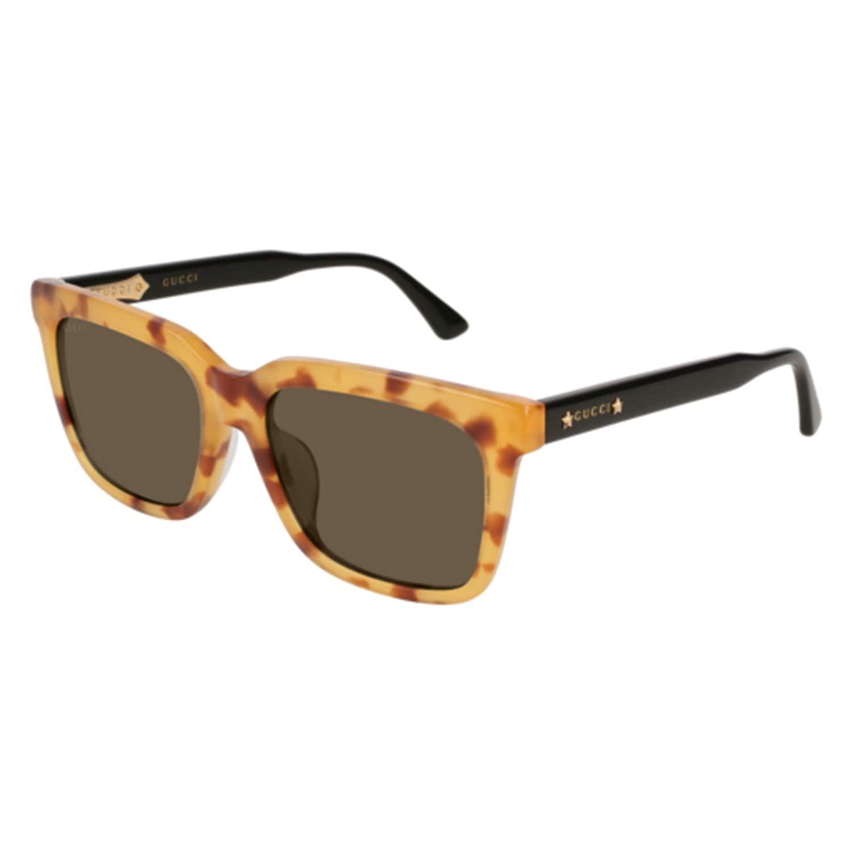 28403de75e571 Amazon.com  Gucci GG 0267 SA- 001 BLACK GREY Sunglasses  Clothing