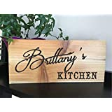 PERSONALIZED KITCHEN SIGN, RECLAIMED CEDAR 12X5 WITH HANGER, RUSTIC COUNTRY ELEGANT WOOD SIGN, UNIQUE GIFT, HOUSEWARMING GIFT, ANNIVERSARY GIFT, BIRTHDAY GIFT, VALENTINES GIFT, WEDDING GIFT