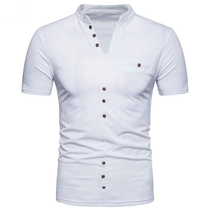 Manga Corta para Hombre, Polos de Hombre Camiseta Casual de Manga ...
