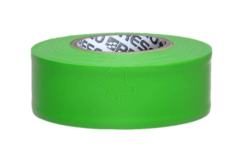 Presco TXGG 1-3/16'' x 150' Green Glo PVC Texas Flagging Tape, 3.5'' Height, 1.18'' Wide, 3.5'' Length