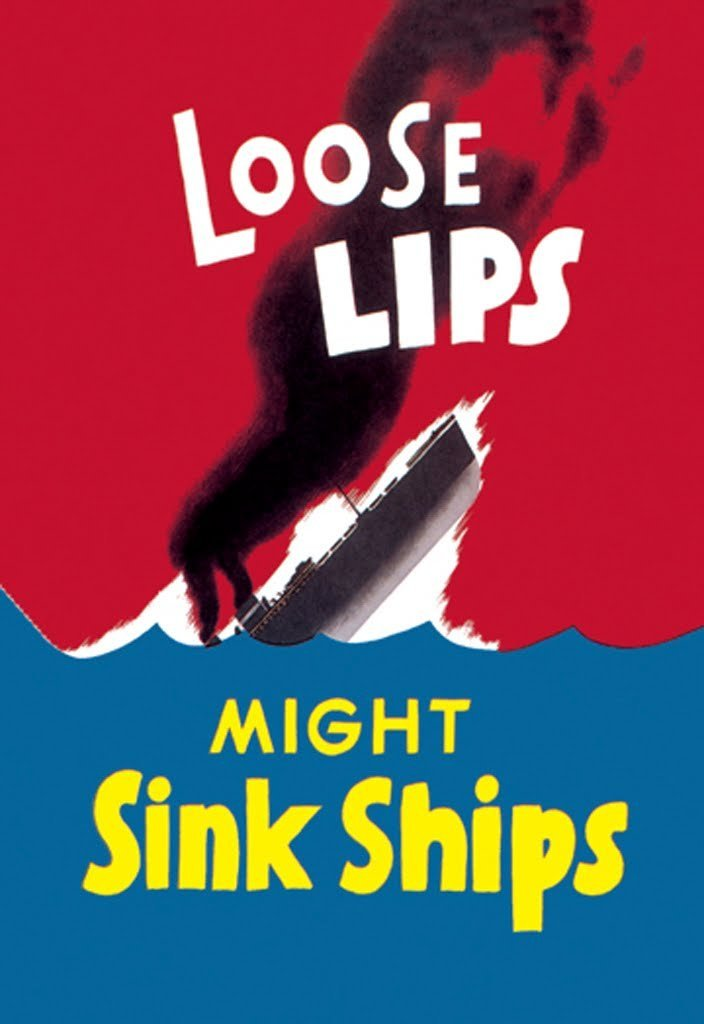 Buyenlarge Loose Lips Might Sink Ships Wall Decal, 48'' H x 32'' W by Buyenlarge