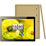 KOCASO MX1086 [10.1 INCH] A7 Quad Core [Android 6.0] HD Tablet PC- 16GB Memory W/Expandable Memory, 1200x800, Dual Camera, Bluetooth 4.0/3G Dongle/WiFi/Micro USB/TF Card Slot/FREE ACCESSORIES- Gold