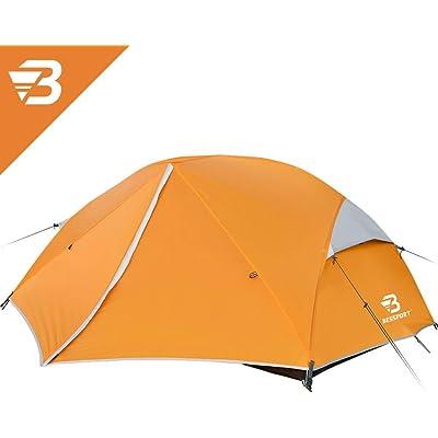 Bessport Tienda de Campaña 2 Personas Ligero con Dos Puertas A Prueba de UV/Viento Fuerte/Lluvia para Trekking, Campamento, Playa, Aventura, etc