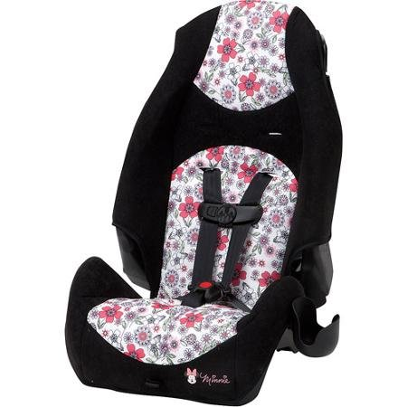 Disney Baby Minnie Mouse Highback 2-in-1 Booster Car Seat, Minnie Coral Flowers