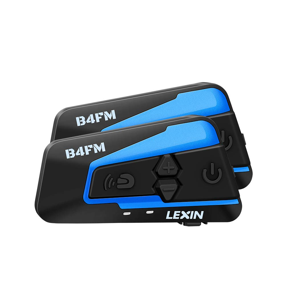 LEXIN 2pcs LX-B4FM Motorcycle Bluetooth Headset with FM Radio, Motorcycle Helmet Communication Systems With Noise Cancellation Up to 4 Riders, Off-road Helmet Motorcycle Intercom by LEXIN ELECTRONICS DESIGN FOR BIKE