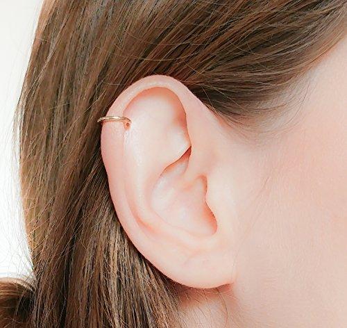 - Helix Earring 16 Gauge Gold Filled Seamless Hoop Piercing