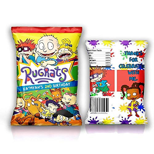 12 Personalized Chip Bags | Rugrats Party | Rugrats Birthday Supplies | Rugrats Chip Bags for Party | Chip Bag Template | Rugrats Party Favors | Rugrats Birthday Favors | -