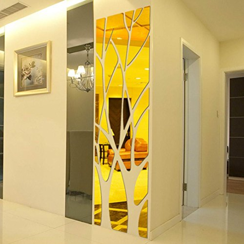 Family DIY Decor Art Stickers Home Decor Wall Art For Kids Living Room Bedroom Bathroom Office Home (Tiger Wall Mirror)