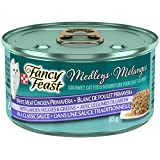 Purina Fancy Feast Medleys Medleys White Meat Chicken Primavera with Garden Veggies & Greens in a Classic Sauce Cat Food 85g Can