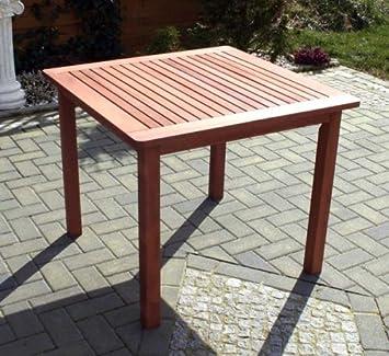 Amazon De Gartentisch Viereckig Edel Hartholz 90x90x73 5 Cm