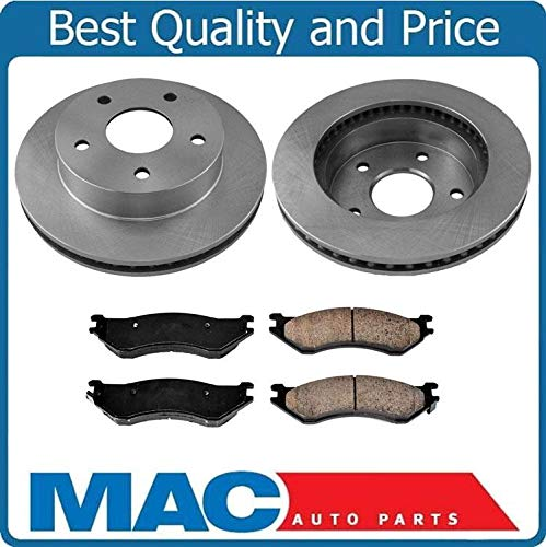 100% New Front Rotors Brake Pads for Dodge Ram 1500 Pick Up 4 Wheel Drive ()