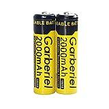 vape 2000 mah - 2 PC  18650 Rechargeable Battery 3.7V 2000 mAh Flashlight Battery Button Top Batteries for Flashlight Headlamp ( Not AA OR AAA Battery )