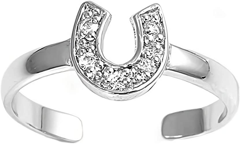 One Plumeria Toe Ring Sterling Silver 925 Adjustable Beach Plain Jewelry Gift