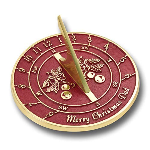 Happy Christmas Dad Sundial Ornament Gift for Father. Cool New Present Idea from Son, Daughter, Kids Or The Dog. Xmas Day Stocking Filler Gifts for Him. Handmade in England by The Metal Foundry - Golf Sundial