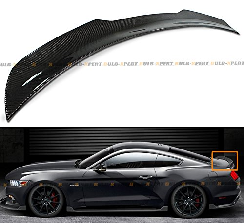 Bestauto Carbon Fiber Rear Spoiler Trunk Wing for 2015-2017 Ford Mustang S550 GT GT350 350R Track Pack Style Carbon Fiber Wing 2015 2016 2017