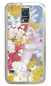 S5 Case, Galaxy S5 Case - Brian114 Beautiful Flower Faery Clear Hard Case Cover for Samsung Galaxy S5 I9600 Cover