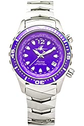 The Abingdon Co Marina Dive Watch in Pacific Purple with Wetsuit Band Expander