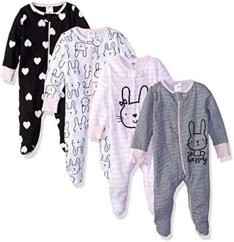 Gerber Baby Girls' 4-Pack Sleep 'N Play
