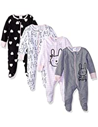 Baby Girls' 4-Pack Sleep 'N Play