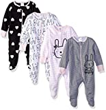 Gerber Baby Girls' 4-Pack Sleep N' Play, Bunny, 6-9 Months: more info