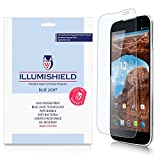 iLLumiShield - BLU Studio 6.0 HD Screen Protector w/ HD Blue Light UV Filter & Lifetime Replacement / Clear Film / Anti- Fingerprint / Anti-Bubble / Anti-Bacterial Shield - [2-Pack]