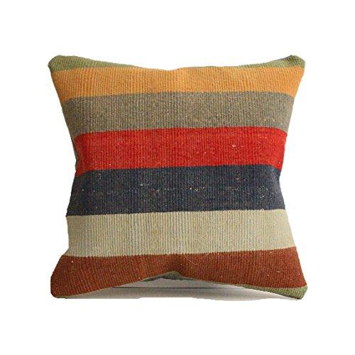 Kilim pillow, 24x24 kilim pillow cover, Turkish Pillow Suzani Pillow Moroccan Pillow Bohemian Pillow Kilim Cushion Large Pillow Floor Cushion Bohemian Pillow Big Pillow, Pouf c431 ()