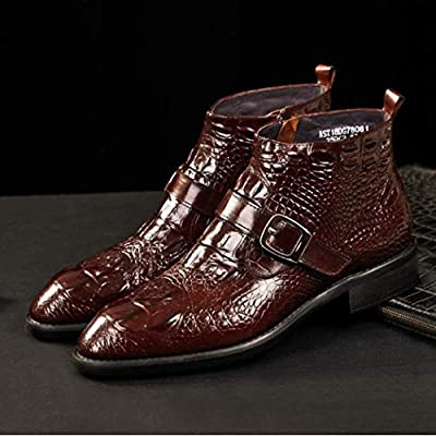 British Leather Shoes Male Crocodile Pattern One Foot Python