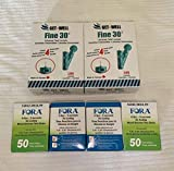 GET•Well Fine 30g Universal Twist Lancets 200 Ct. - Made in Canada ! Unique Quad Bevel Tip Offers Quick Healing & Less Pain ! 200 Ct. FORA V30/G30/Premium V10 Blood Glucose Test Strips