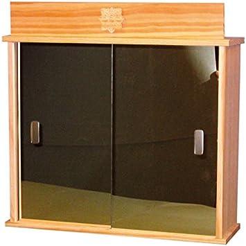 greca Vitrina baño, con Puertas correderas de Espejo. Madera de Pino Natural. Medidas: (Ancho/Fondo/Alto): 45 * 14 * 43 cms.: Amazon.es: Hogar