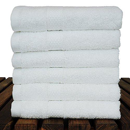 BC BARE COTTON Luxury Hotel & Spa Towel Turkish Cotton Rayon Bath (Washcloth - Set of 6, White) by BC BARE COTTON (Image #2)