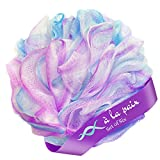 À La Paix Loofah Bath Sponge Body Scrubber Pouf-Loofa Luffa Loufa Shower Puff-Lufa Sponge Scrunchie for Beauty Bathing, Medium 50g, Set of 6 colors