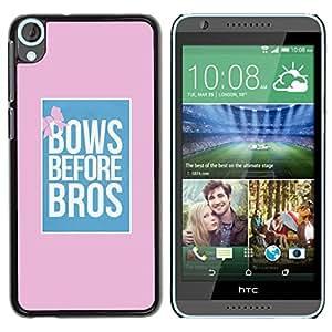 TopCaseStore / la caja del caucho duro de la cubierta de protección de la piel - Bros Pink Blue Poster Pink - HTC Desire 820