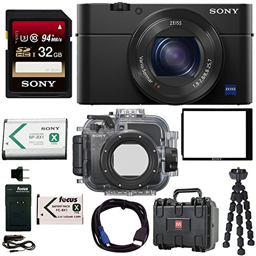 Sony Cyber-shot DSC-RX100 IV Camera w/ Sony Underwater Housing Accessory Bundle by Focus Camera