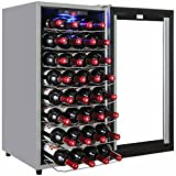 AKDY 32 Bottles Dual Zone Thermoelectric Freestanding Wine Cooler Cellar w/ Touch Control review