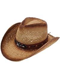 Western Outback Cowboy Hat Men s Women s Style Straw Felt Canvas a334b8f925aa
