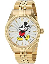 Invicta Mens Disney Limited Edition Quartz Stainless Steel Casual Watch, Color:Gold-Toned (Model: 22770)