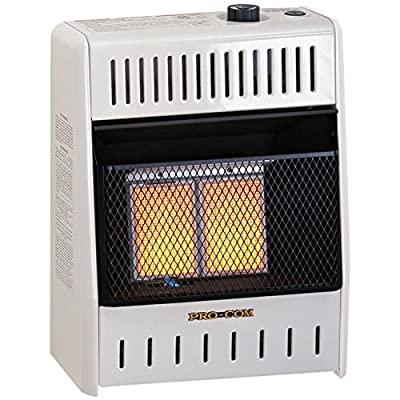 ProCom MNSD2TPA Dual NATURAL/PROPANE GAS Vent-Free Heater, 10,000 BTU