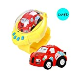 FunnyBean RC Cartoon Mini Racer Cars 2.4Ghz Remote Control Gravity Sensor Cute Concept Toy Watch...
