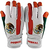 Mexico Baseball Batting Gloves Pitted Leather Lycra Spandex Backing (Small)