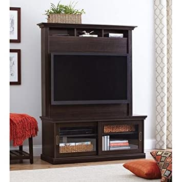 better homes and gardens tv stand. Better Homes And Gardens Chocolate Oak TV Stand With Hutch For TVs Up To 50\u0026quot; Tv S