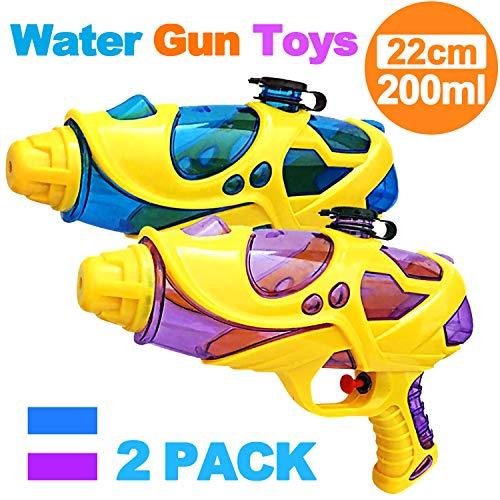 Kids Water Squirt Gun Super Water Pistol High Capacity Water Soaker Blaster Far Range Water Squirt Gun Toys for Kids Boys Girls Indoor Outdoor Swimming Pool Water Fighting Toy Party - Toy Guns Kids