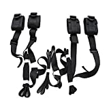 Under Bed Bondage Restraint kit with Adjustable Straps,Hand Cuffs Ankle Cuff Collection for Male Female Couple